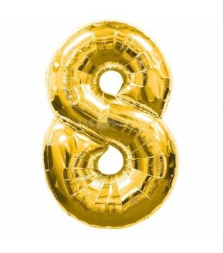 Кулька цифра 8 (86см) gold
