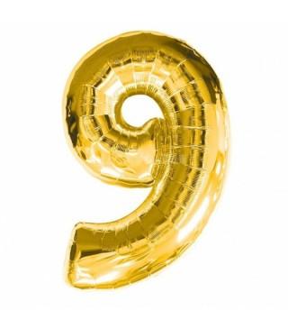 Кулька цифра 9 (86 см) gold