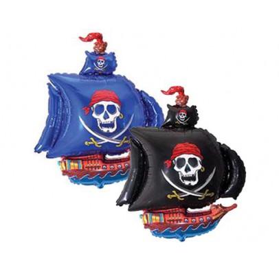 Шарик фольгированный мини Пиратский корабль