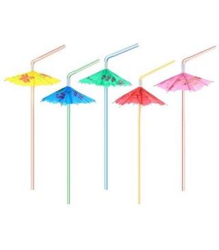 Трубочки для коктейлю з парасолькою 6шт/уп
