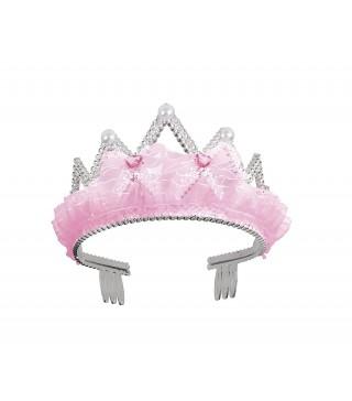 Тіара Корона з рожевими бантиками