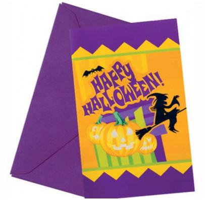 Приглашение Хэллоуин 1шт