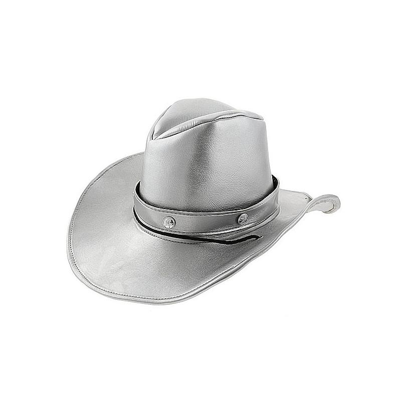 Шляпа Ковбойская серебрянная
