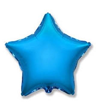 Кулька фольгована Зірка синя