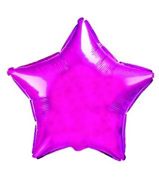 Кулька фольгована Зірка рожева