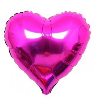 Кулька фольгована Серце малинове