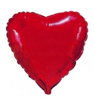 Кулька фольгована Серце червоне