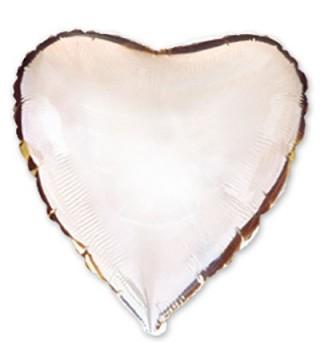 Шарик фольгированный Сердце серебрянное