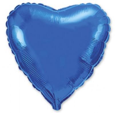 Шарик фольгированный Сердце синее