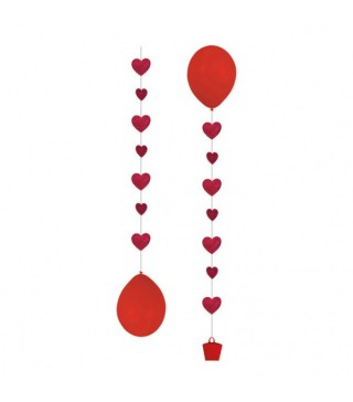 Підвіски до кульок Сердечка 3шт/уп