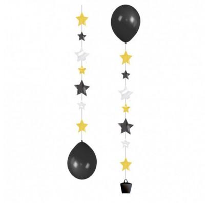 Подвески для шариков Звездочки 3шт/уп