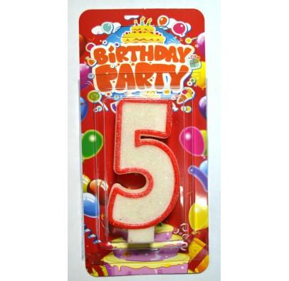 Свеча цифра 5 на День Рождение