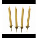 Свечи для торта золотые 10шт/уп