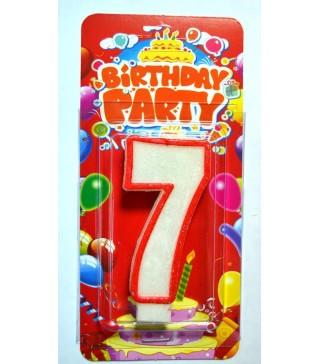 Свеча цифра 7 на День Рождение