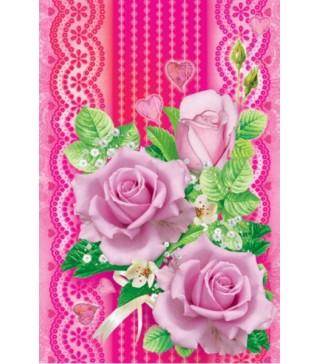Пакет подарунковий Квіти рожеві