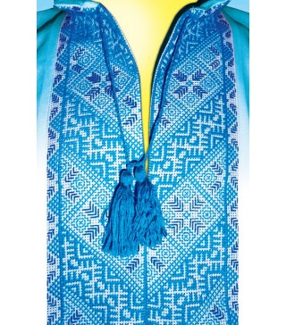 Пакет подарунковий Вишиванка блакитна