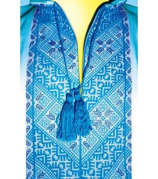 Подарунковий пакет Вишиванка блакитна