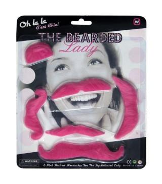 Вуса накладні рожеві