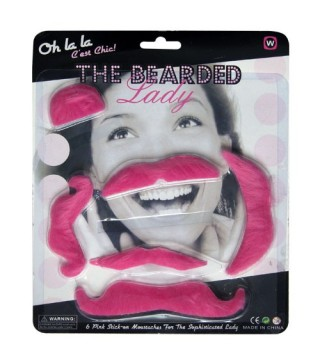 Усы накладные розовые
