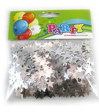 Конфеті зірочки сріблясті