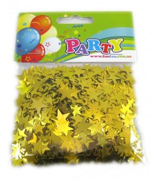 Конфеті зірочки жовті асорті