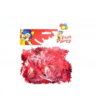 Конфеті зірочки червоні