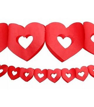 Гірлянда Серце паперова