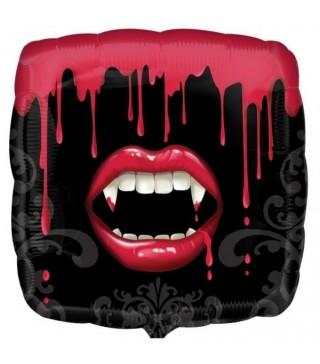 Шарик фольгированный Губы с кровью