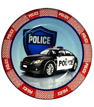 Тарілки для свята Поліція 8 шт/уп