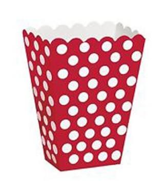 Коробка для попкорна красная в горох