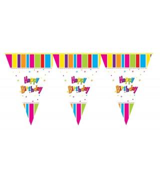 Гірлянда-прапорці Happy Birthday