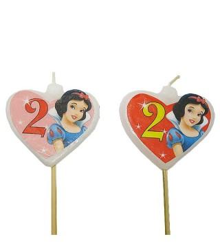Свічка цифра 2 Принцеса