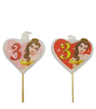 Свічка цифра 3 Принцеса