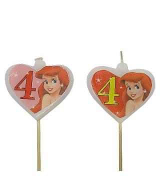 Свічка цифра 4 Принцеса
