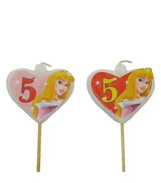 Свічка цифра 5 Принцеса