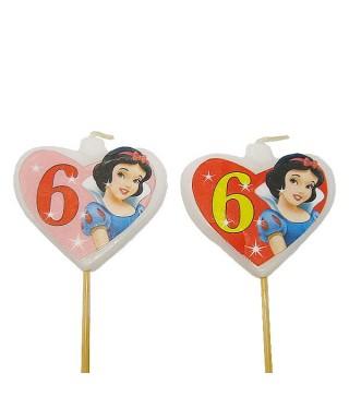 Свічка цифра 6 Принцеса