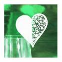 Сердце декоративное на бокал 1шт