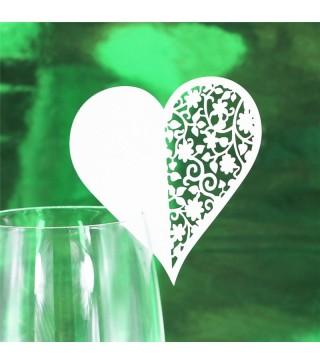 Серце декоративне на бокал 1шт