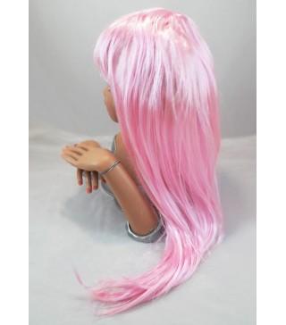 Перука пряма рожева