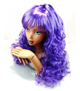 Перука хвиляста фіолетова