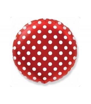 Кулька кругла Горошок червона