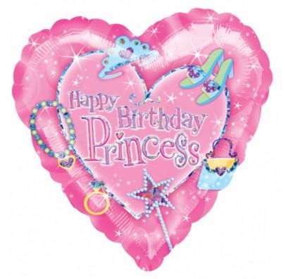 Шарик фольгированный Hаppy Birthday Princess