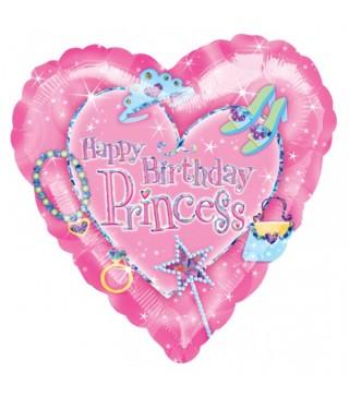 Кулька повітряна Hаppy Birthday Princess