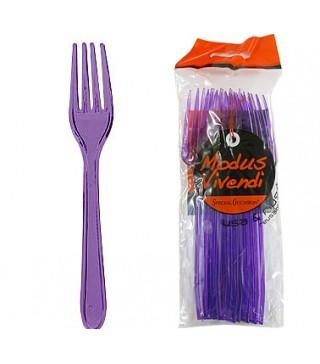 Набір фіолетових виделок 10 шт/уп