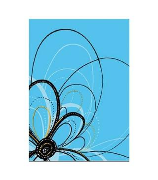 Подарочный пакет Цветы голубые