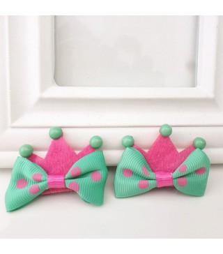 Корона маленька рожева з зеленим