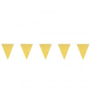 Гирлянда-флажки золотая