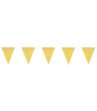 Гірлянда-прапорці золоті