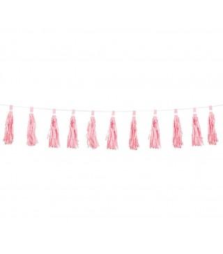 Гирлянда Помпоны розовая