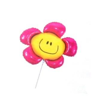 Кулька фольгована міні Квітка смайлик асорті